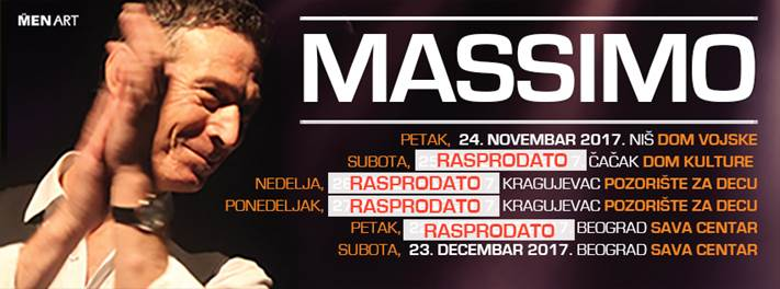 U prodaji još malo ulaznica za koncert Massima u Nišu!