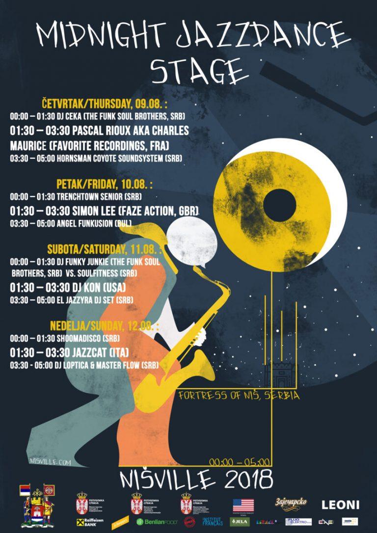 Nišville raspisao konkurs za idejno rešenje plakata za  Midnight Jazzdance Stage 2019. godine