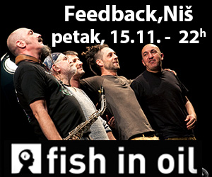 "Koncert grupe ""FISH IN OIL"" u petak u Nišu!"
