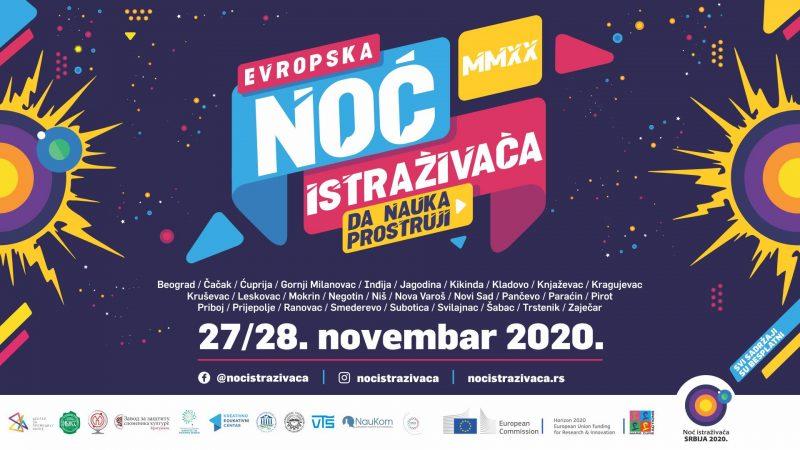 11. Evropska noć istraživača u Srbiji u online izdanju