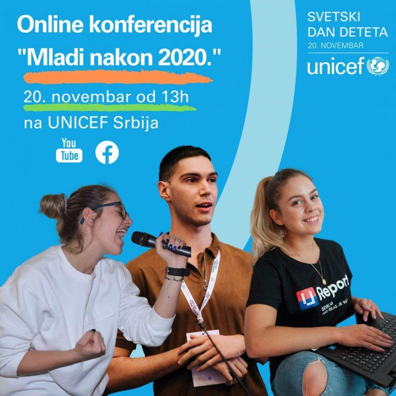 """20. novembar – Svetski dan deteta u znaku online konferencije """"Mladi nakon 2020."""""""