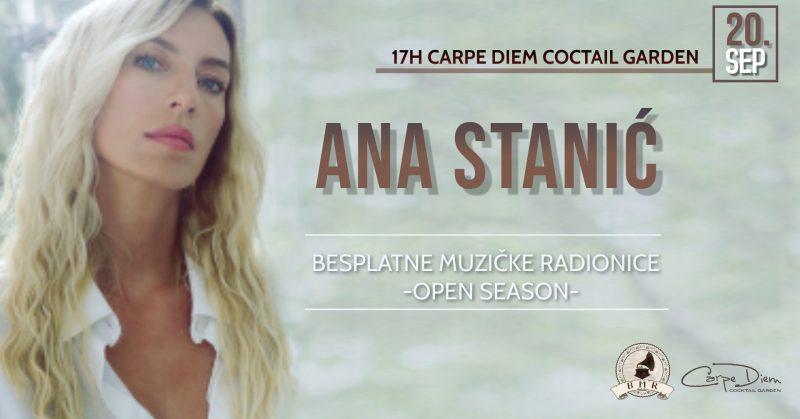 BMR Open Season 2021 – gošća Ana Stanić